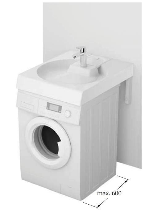 Waschbecken Claro Grande Auf Waschmaschine
