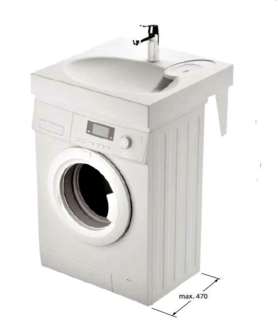 Waschbecken Claro Auf Waschmaschine