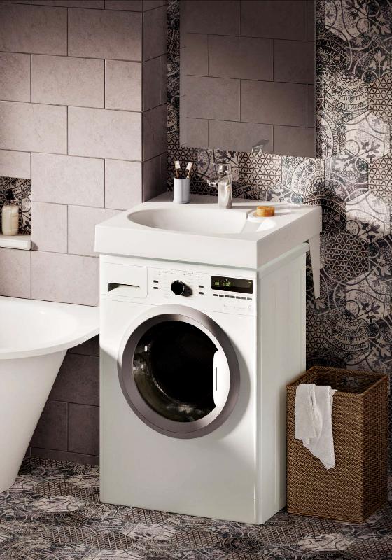 Waschbecken Claro Mini Auf Waschmaschine